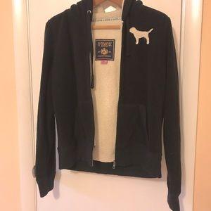 PINK Sherpa Hoodie zip up Jacket